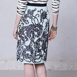 Anthropologie Moulinette Soeurs Lace Fable Skirt